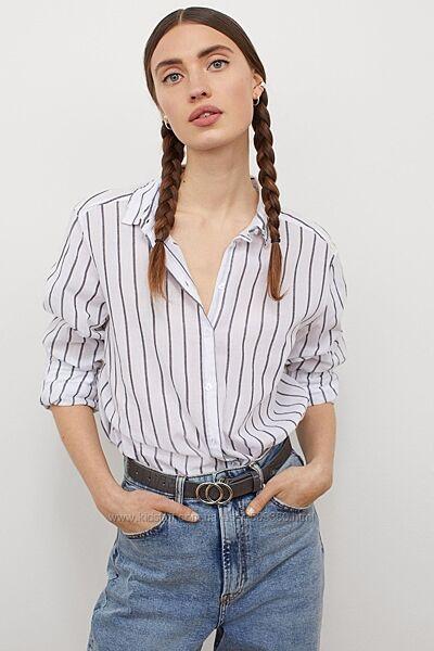 фирменная рубашка H&M размер С