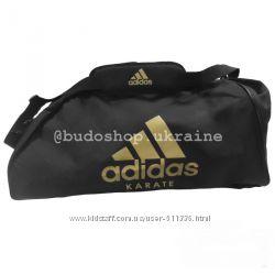 Спортивная сумка - рюкзак Adidas - Karate. Золотая печать.