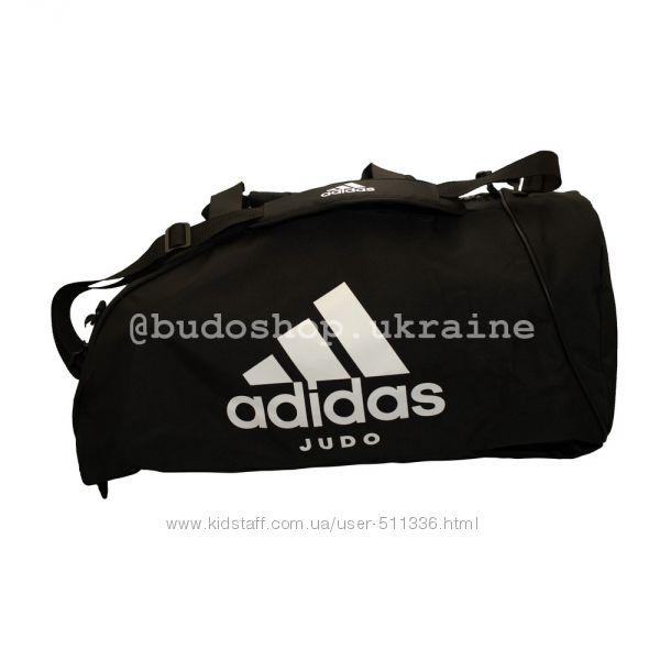 Спортивная сумка - рюкзак Adidas - Judo. Белая печать.