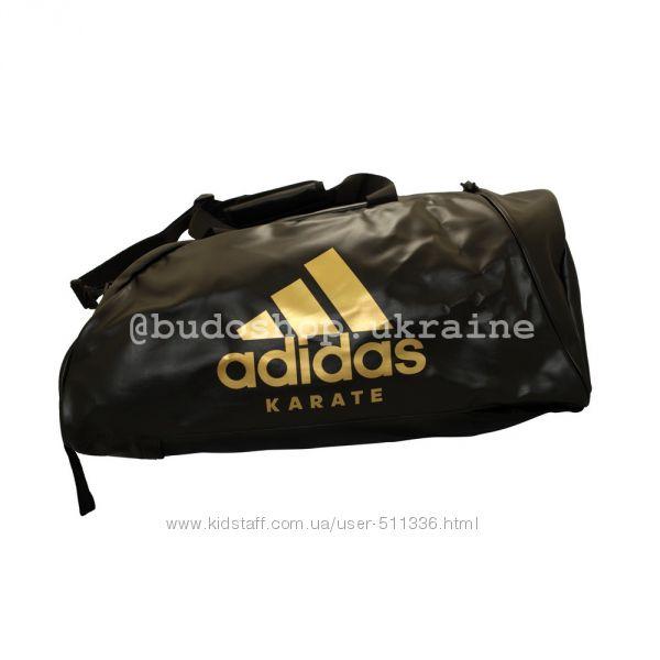 Спортивная сумка - рюкзак Adidas - Karate кожзам. Золотая печать.