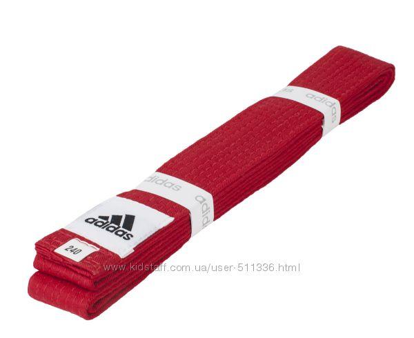 Пояс Adidas Club для единоборств. Красный.