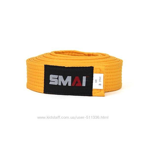 Пояс Smai для боевых искусств. Жёлтый.