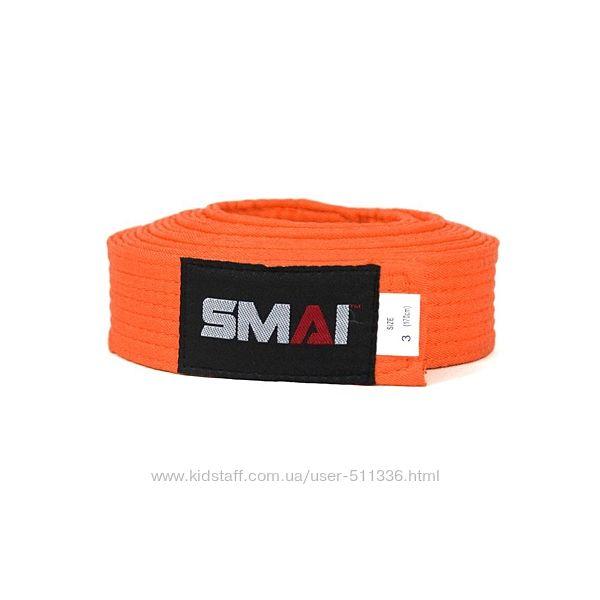 Пояс Smai для боевых искусств. Оранжевый.