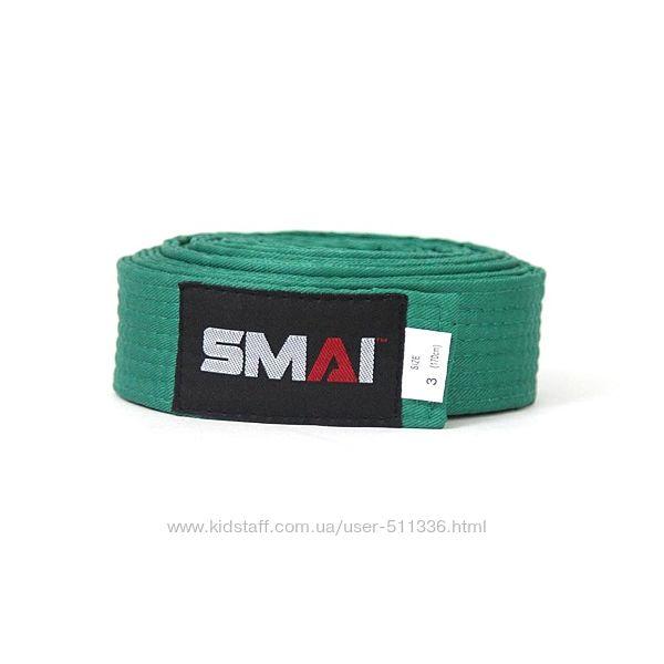 Пояс Smai для боевых искусств. Зелёный.