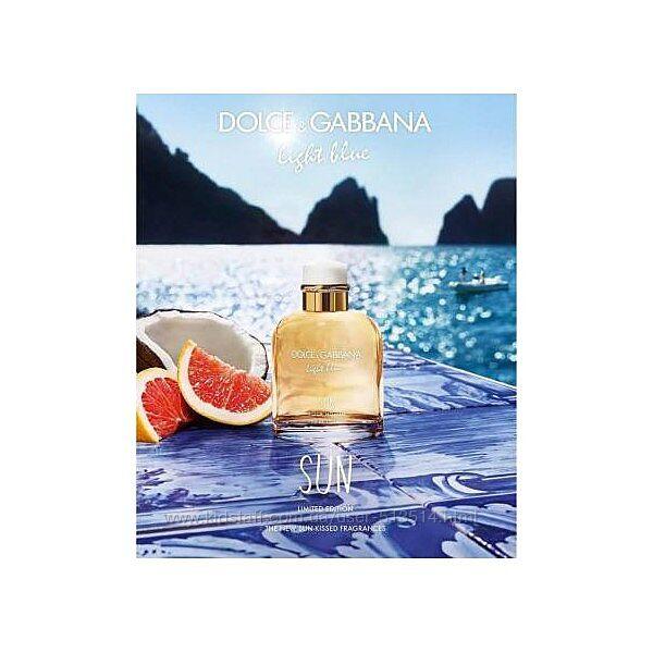 Dolce Gabbana Light Blue Sun Homme цитрусы и зелёное яблоко Распив оригинал