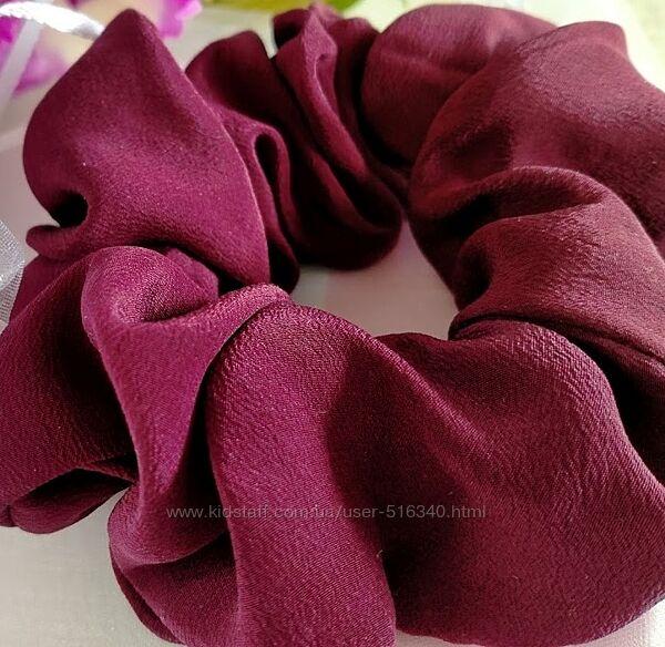 Шелковая резинка для волос 100 натуральный шелк матовая, Украина купить