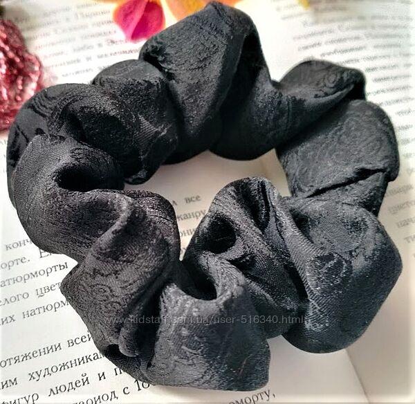 Шелковая резинка для волос 100 натуральный шелк жаккард, Украина купить