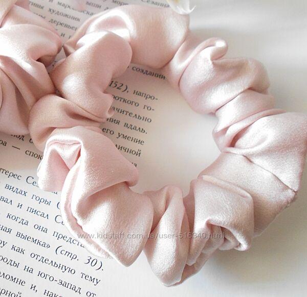 Шелковая резинка для волос, средний размер, натуральный шелк Украина купить