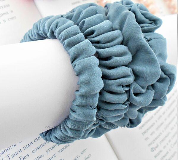 Шелковая резинка для волос маленькая, натуральный шелк Украина купить