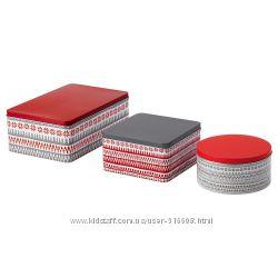 Набор жестяных коробок для хранения сухих продуктов IKEA VINTER 30363476