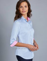 Блуза премиум Hawes & Curtis Womens Baby Blue Semi Fitted 3 Quarter