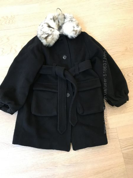 Нарядное пальто H&M 3-4 г, 104 рост