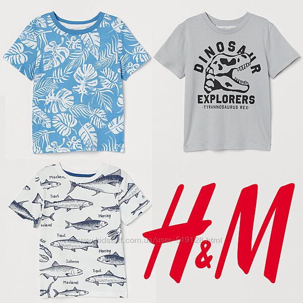 Бавовняні футболки для хлопців 2-10 років від H&M Швеція