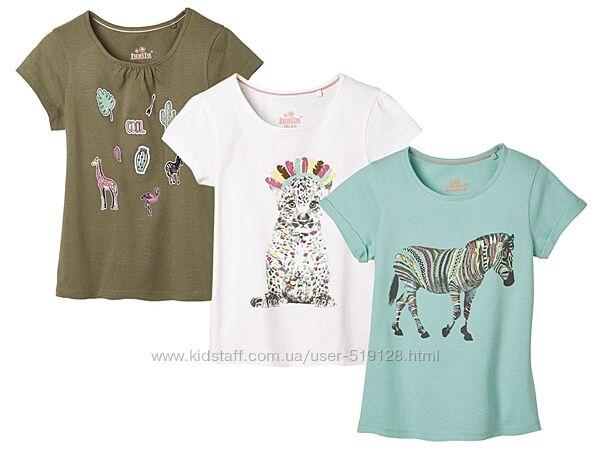 Набори з 3-х футболок для дівчат 1-2 роки фірми Lupilu Німеччина