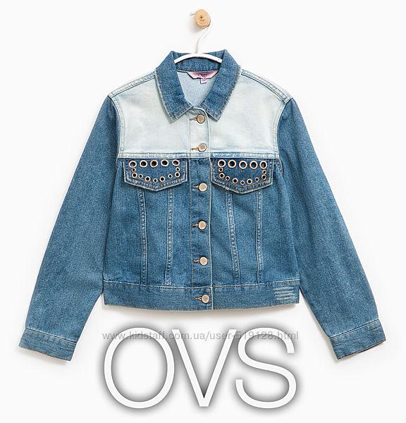 Джинсова куртка для дівчат 13-14 років від OVS Італія