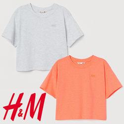 Однотонні футболки для дівчат 8-14 років від H&M Швеція