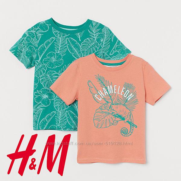 Комплекти з 2х футболок для хлопців 2-6 років від H&M Швеція
