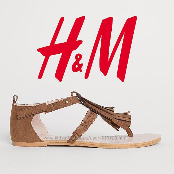 Босоніжки під замшу для дівчат 37 розмір від H&M Швеція