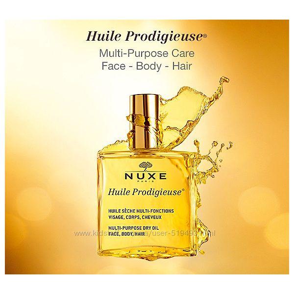 Сухое Чудесное масло Нюкс Продиджеус для лица, тела и волос Nuxe Paris Huile Prodigieu Dry Oil в объеме