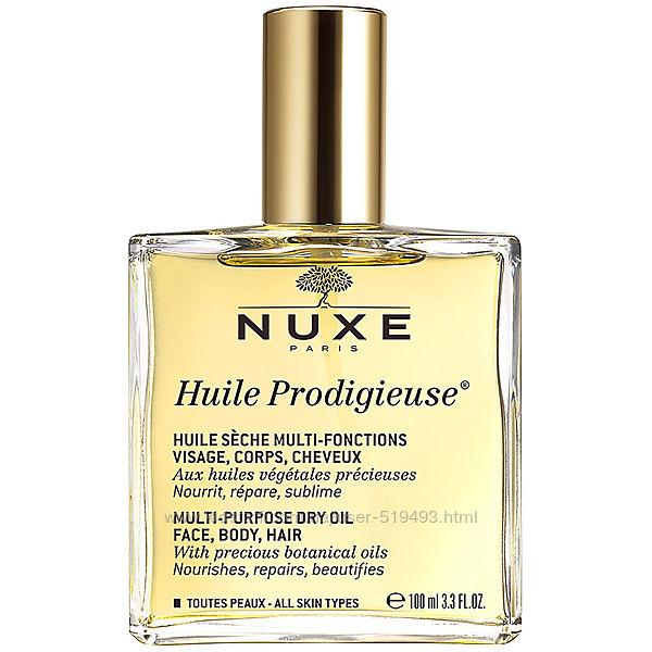 Сухое Чудесное масло Нюкс Продиджеус для лица, тела и волос Nuxe Paris Huile Prodigieu Dry Oil в объеме 100мл