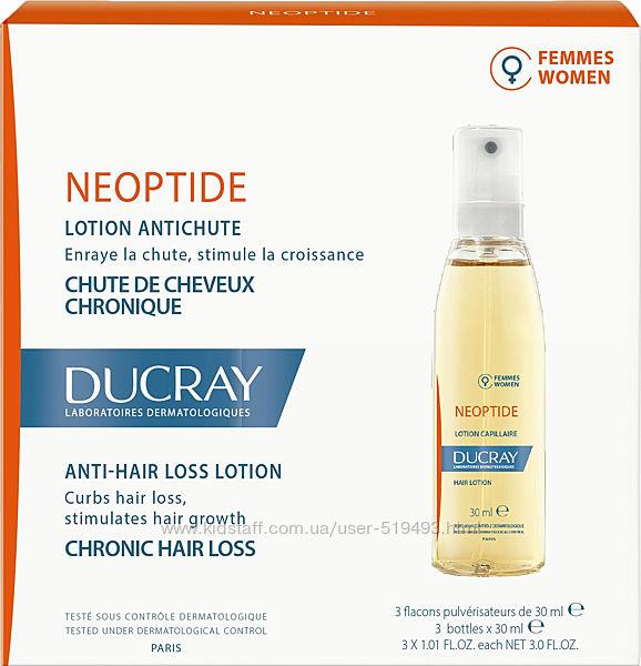 Лосьон при хроническом выпадении волос у женщин Ducray Neoptide Lotion Дюкрей Неоптид 3 флакона по 30мл