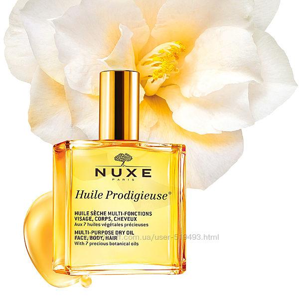 Сухое Чудесное масло Нюкс Продиджеус для лица, тела и волос Nuxe Paris Huile Prodigieu Dry Oil в объеме 50мл