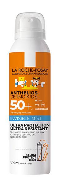 Детский солнцезащ спрей Ля Рош Посей Антелиос спф La Roche-Posay Anthelios Dermo-Pediatrics Mist SPF 50 200мл