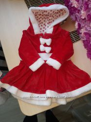 Велюровое платье Санты