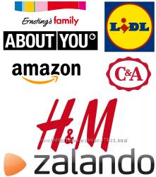 Интернет-магазины  Германии. H&M, DM, Lidl, Amazon