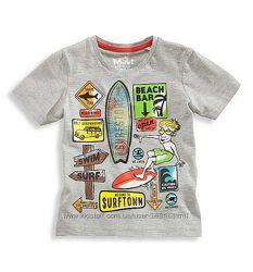 Распродажа детских футболок  для мальчиков на лето от H&M, C&A