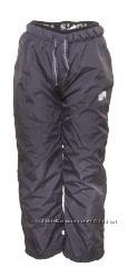 Деми штаны на флисе не промокаемые до -5 р. 86-158 ТМ Pidilidi антрацит