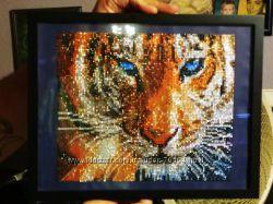 Набор для выкладки алмазами - Тигр 35 на 30см.