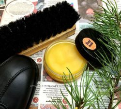 Натуральный крем для обуви Ручной работы - чёрный и прозрачный