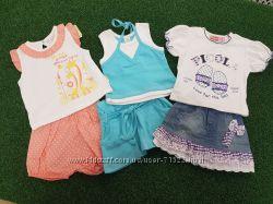 Летний костюм для девочки нарядный В Наличии юбка и футболка