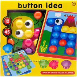 Крупная мозаика с шаблонами Button Idea