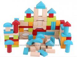 Деревянный конструктор кубики ELC 100шт