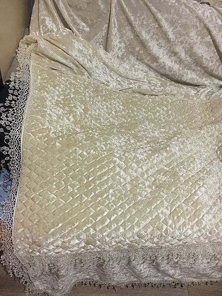 Накидка на диван велюр