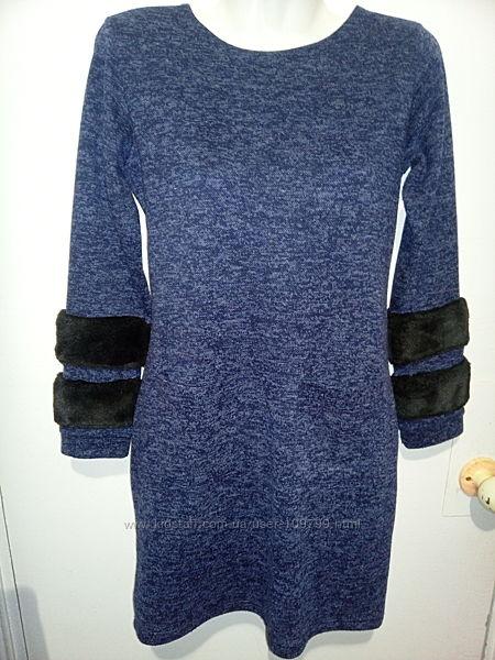 Тёплое платье на девочку рост 152 см