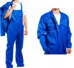 Костюм рабочий синий. Полукомбинезон и куртка