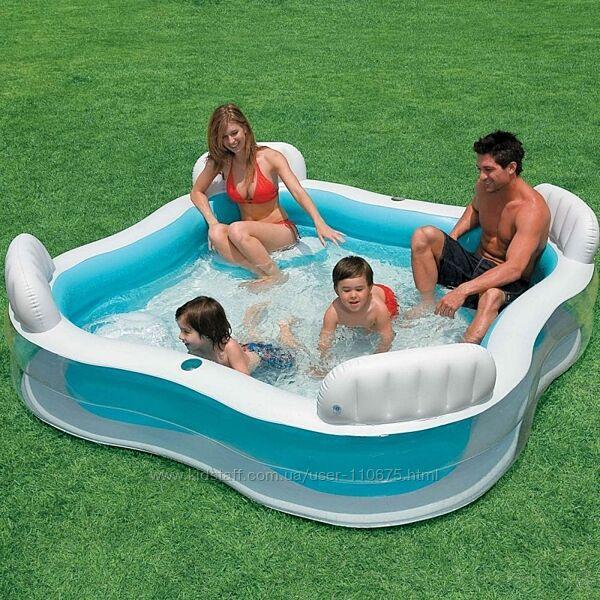 Детский надувной бассейн 229х229х66 см, Intex
