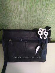 Шикарная сумка из натуральной кожи с цветком дипломат  кожа 100  Индия