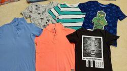 Много разных футболок, поло H&M и др на 5-7 лет