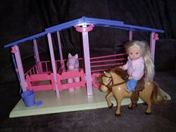 Набор конструктор кукла Эви Еви Ева Симба Simba Evi лошадь конюшня