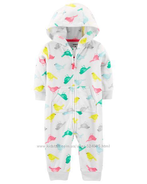 Флисовая пижама слип  человечек Carters на 2, 3 года