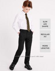 Черные школьные брюки marks&spencer на 9-10-11-12 лет на рост 140-146-152см