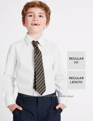 Белая школьная рубашка marks&spenser англия на 10-14 лет на рост 146-164 см