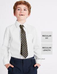 Белая школьная рубашка marks&spenser англия на 12-13 лет на рост 158см