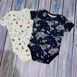 Бодики george размер 12-18 месяцев джордж одежда для новорожденных
