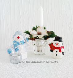 Винтажные Снеговики, керамика, ГДР