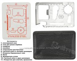 stainless steel 11-in-1 multi-functional tool card